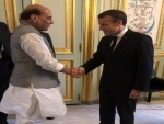 "Defence Minister Rajnath Singh holds ""comprehensive discussion"" with French President Macron"