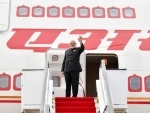PM Narendra Modi emplanes for India after attending BRICS Summit