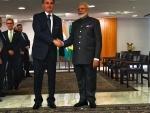 PM Modi meets Brazil President Jair Messias Bolsonaro on the margins of the 11th BRICS Summit