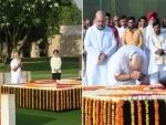 Ahead of swearing-in, PM Modi pays homage to Mahatma Gandhi, Atal Bihari Vajpayee