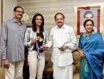 Sindhu is the pride of the nation and athletes like her are role models to youth: Vice President Naidu