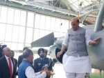 Defence Minister Rajnath Singh receives first Rafale fighter jet in France