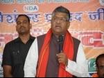 BJP had the popular mandate to form govt in Maharashtra: Ravi Shankar Prasad