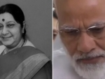 PM Modi turns emotional while paying respect to Sushma Swaraj's mortal remains