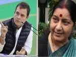 Rahul Gandhi's words have hurt us deeply: Sushma Swaraj on Congress chief's reference to LK Advani