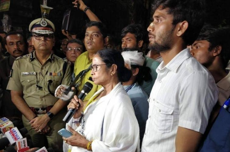 Amit Shah hired goons for vandalism here, alleges Mamata Banerjee after BJP rally turned violent