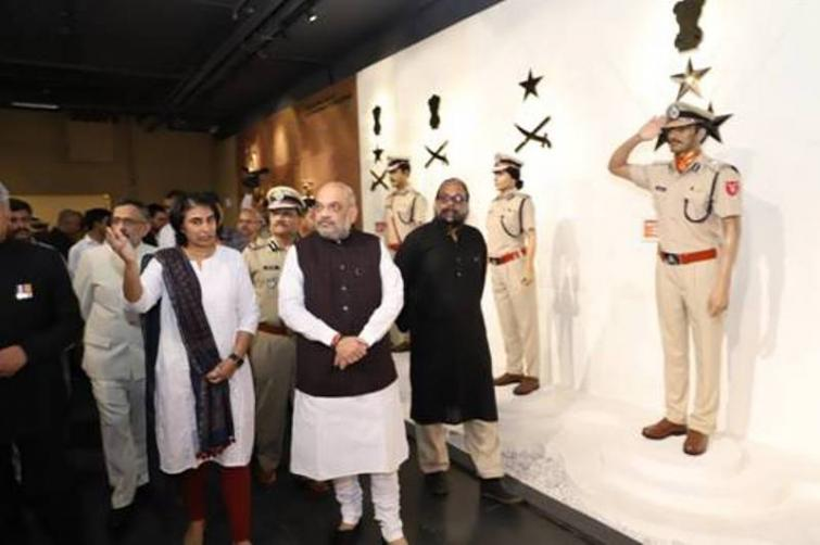Union Home Minister Amit Shah pays homage to martyrs at the National Police Memorial