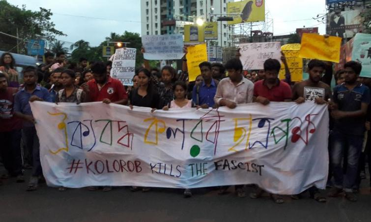 In Left's battle for survival, JU students hold massive protest against Babul Supriyo incident
