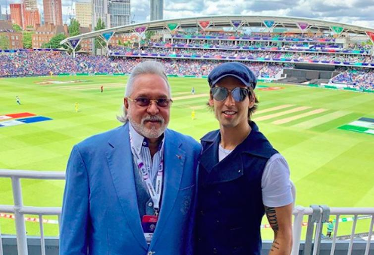 Vijay Mallya at The Oval to watch India-Australia World Cup clash