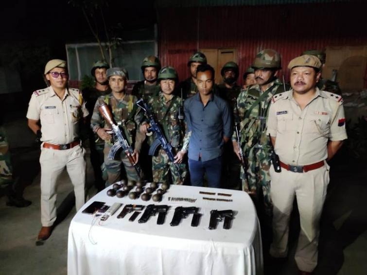 Huge cache of arms-ammu, hand grenades recovered from Manipur