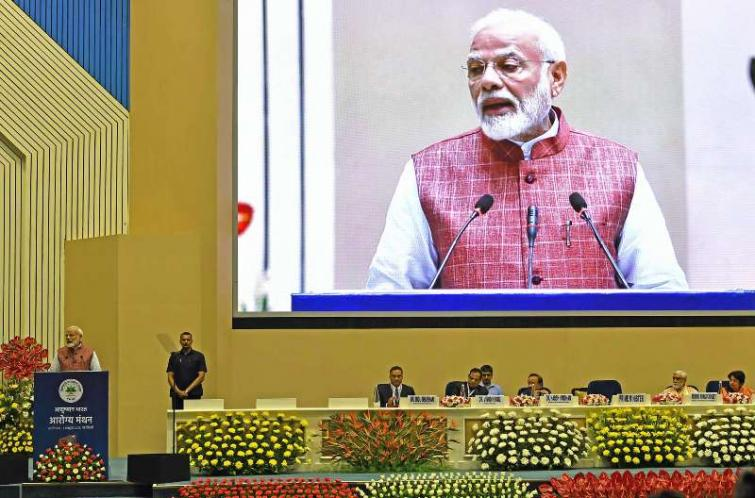 Modi launches new mobile app for Ayushman Bharat, says scheme benefitted 50K poor in one year