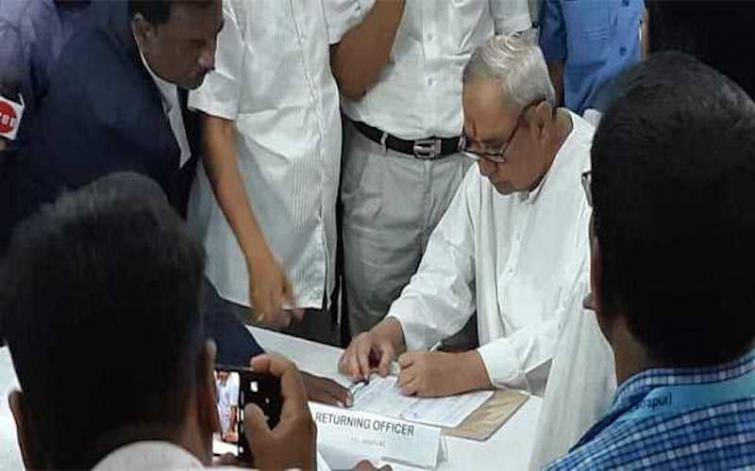 CM Naveen Patnaik, other state leaders file nominations in Odisha
