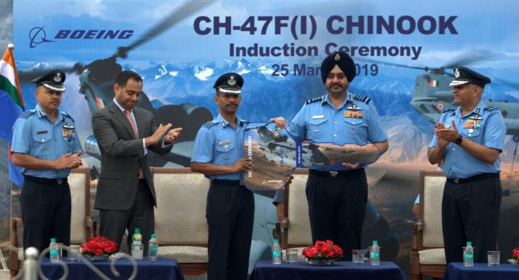 Indian Air Force inducts Chinook Helicopters