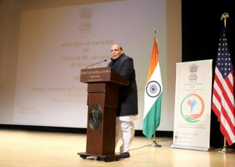 Rajnath Singh interacts with Indian community in New York ahead of India-US 2+2 dialogue