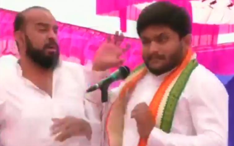 Hardik Patel slapped during a rally in Gujarat