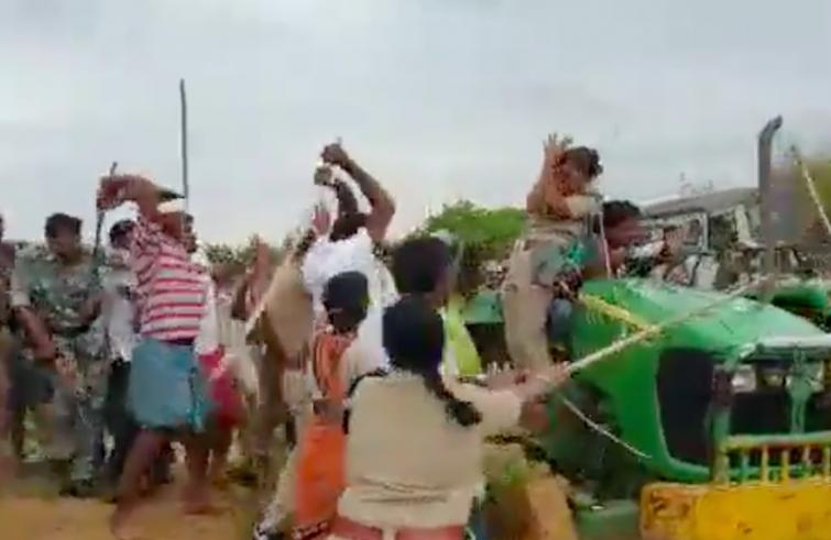 TRS MLA's brother assaults female forest officer on afforestation drive