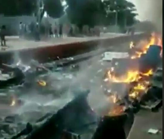 Anti-citizenship act protesters set five trains on fire in West Bengal