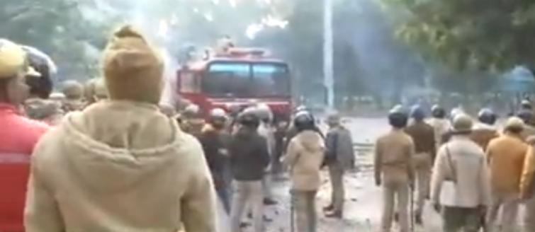 Lucknow on boil as CAA protesters set police post on fire, tear gas used