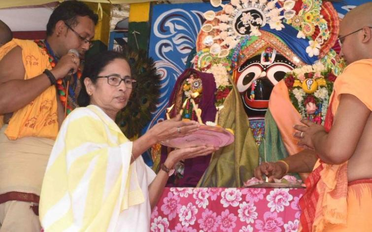 Mamata gives message of 'inclusive society' at ISKCON Rath Yatra, says 'true religion means accepting all'