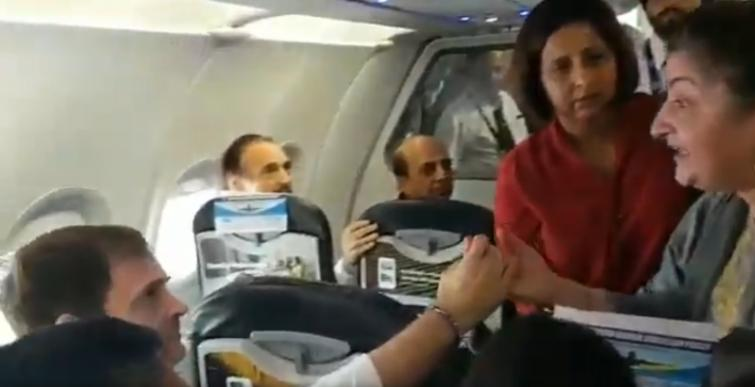 Ill brother not getting treatment: Woman shares her grief with Rahul Gandhi on Kashmir flight