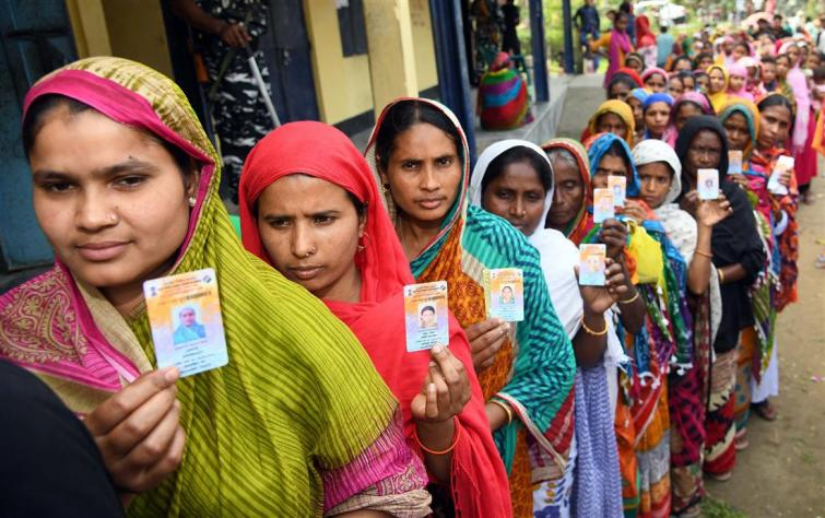 Over 74 pc polling in Assam's four assembly seats, 90.74 pc in Arunachal, 79.83 pc in Meghalaya
