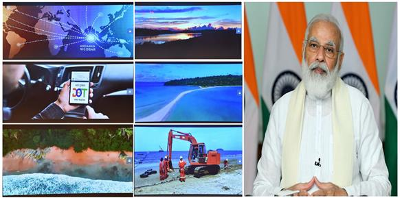 Narendra Modi launches submarine cable connectivity to Andaman & Nicobar Islands (CANI)