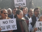 Sonia Gandhi leads Opposition protest against CAA-NRC-NPR in Parliament complex