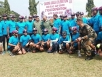 IAF cycling expedition flagged in at Guwahati air force station