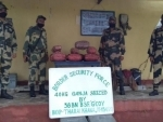 BSF seize 49 kg ganja from Assam-West Bengal border