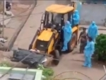 Chandrababu Naidu hits out at Jaganmohan Reddy after video showing Covid dead body transported in tractor