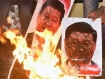 India-China standoff: BJP protests in Srinagar, burn effigy of Chinese President Xi