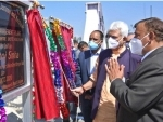 B2v3: Jammu and Kashmir LG Manoj Sinha hands over paddy thresher, distributes Kisan credit cards, sports kits