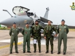 Five Rafale aircraft arrive in India