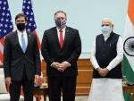 Mike Pompeo,Esper meet Indian PMNarendra Modi