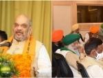 Amit Shah meets protesting farmers in a bid to negotiate ahead of tomorrow's talks