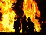 Massive fire at saw mills in Nagpur