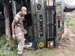 Kashmir: Army truck turns turtle, 3 jawans injured in Samba