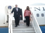 Mike Pompeo arrives in India for 2+2Ministerial Dialogue