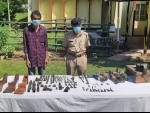 Assam Rifles crack down illegal armoury shop, seiz large number of arms in Nagaland's Peren district