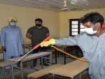 Jammu and Kashmir: Baramulla admin conducts fumigation drive at exam centres