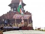 PM Narendra Modi's speech telecast on big screens in Srinagar