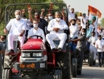 Rahul Gandhi's anti-farm laws rally briefly stopped at Haryana border