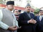 Congress leader Azad meets Farooq at his residence in Srinagar