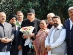 Jammu-based NC leaders meet Dr Farooq Abdullah at his Srinagar residence