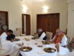 Amit Shah, Mamata Banerjee dine together with host Naveen Patnaik after EZC meeting