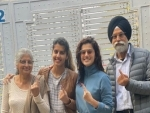 Delhi Polls: Taapsee Pannu votes with family