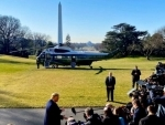 Donald Trump leaves White House, will depart for India shortly