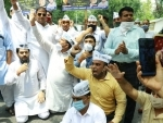 AAP protests against BJP-led MCD's taxes 'burdening' Delhiites