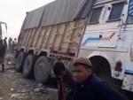 Assam: 13 people injured after passenger bus hit roadside parked truck in Karimganj