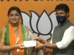 Khushbu Sundar joins BJP hours after quitting Congress